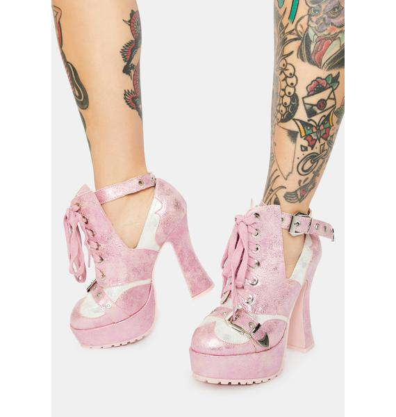 Rose Passion Filled Love Heels