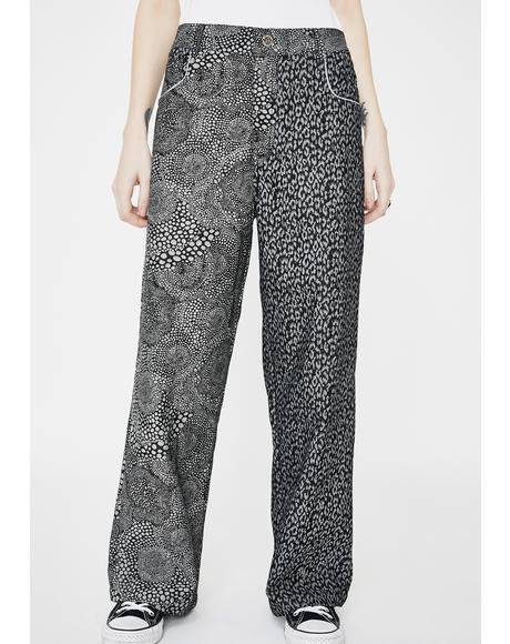 Duo Printed Denim Trousers