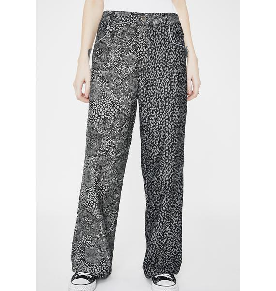 Somewhere Nowhere Duo Printed Denim Trousers