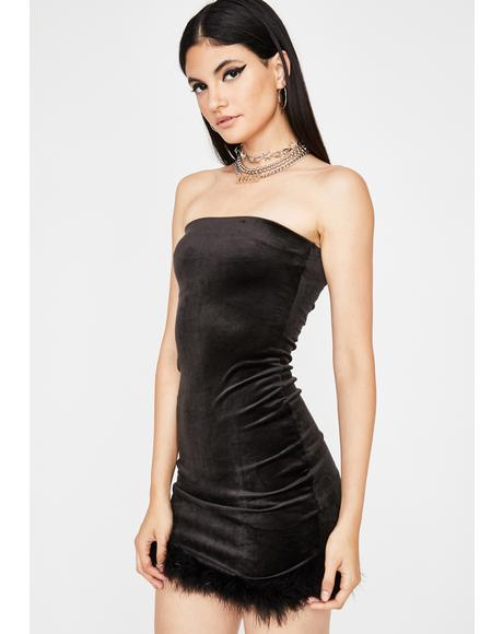 Sinister Hott Gossip Velour Dress