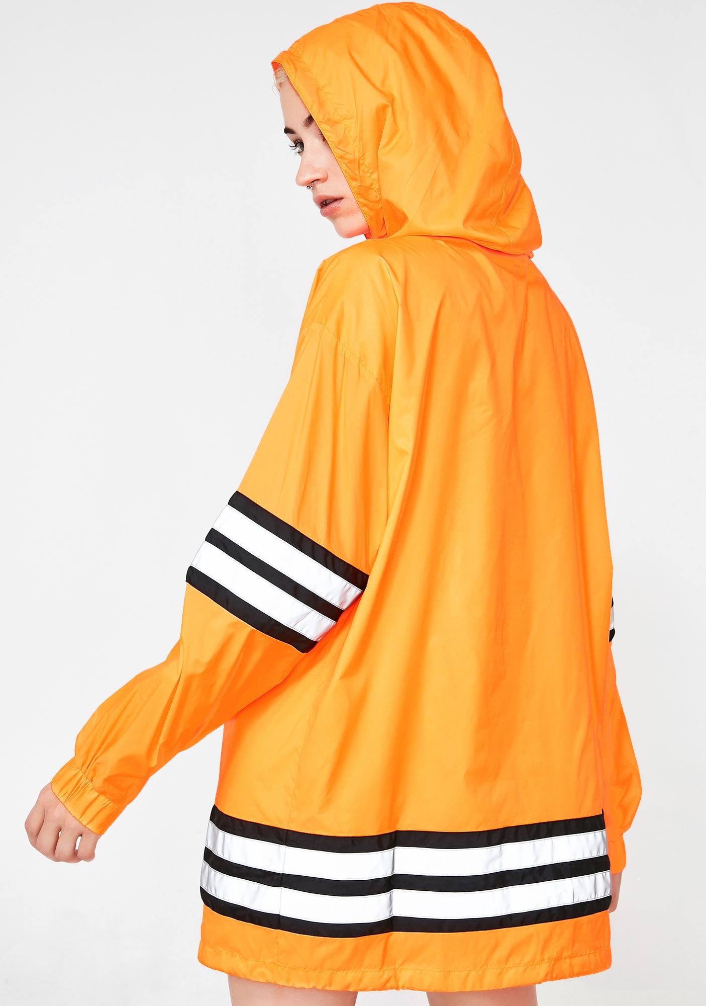 Poster Grl Proceed With Caution Reflective Parka