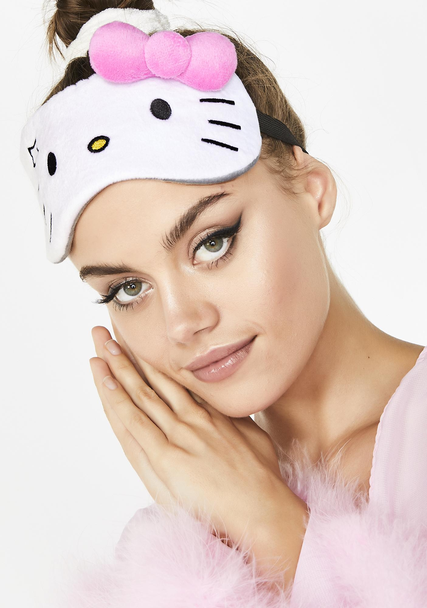 The Crème Shop Hello Kitty Unicorn Plushie Sleep Mask