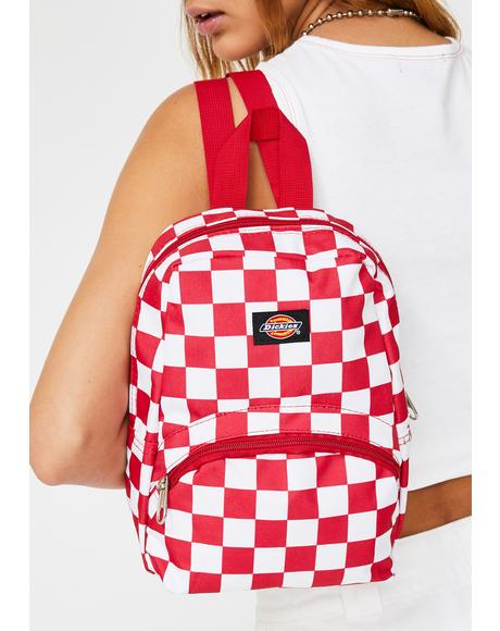 Red Checkerboard Mini Backpack