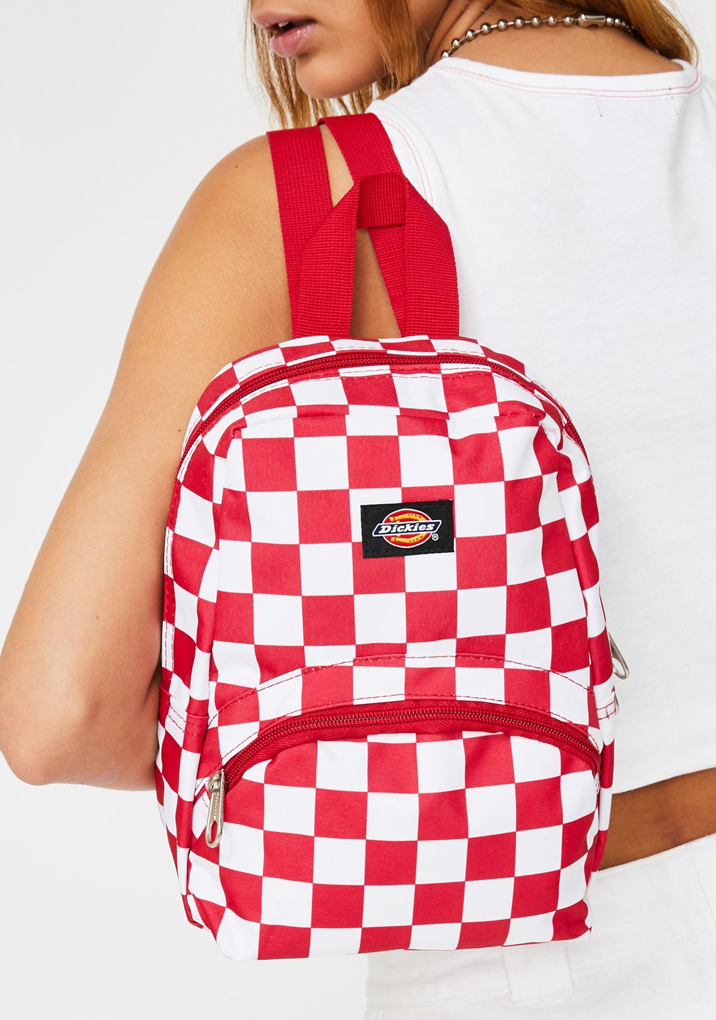 Dickies Red Checkerboard Mini Backpack