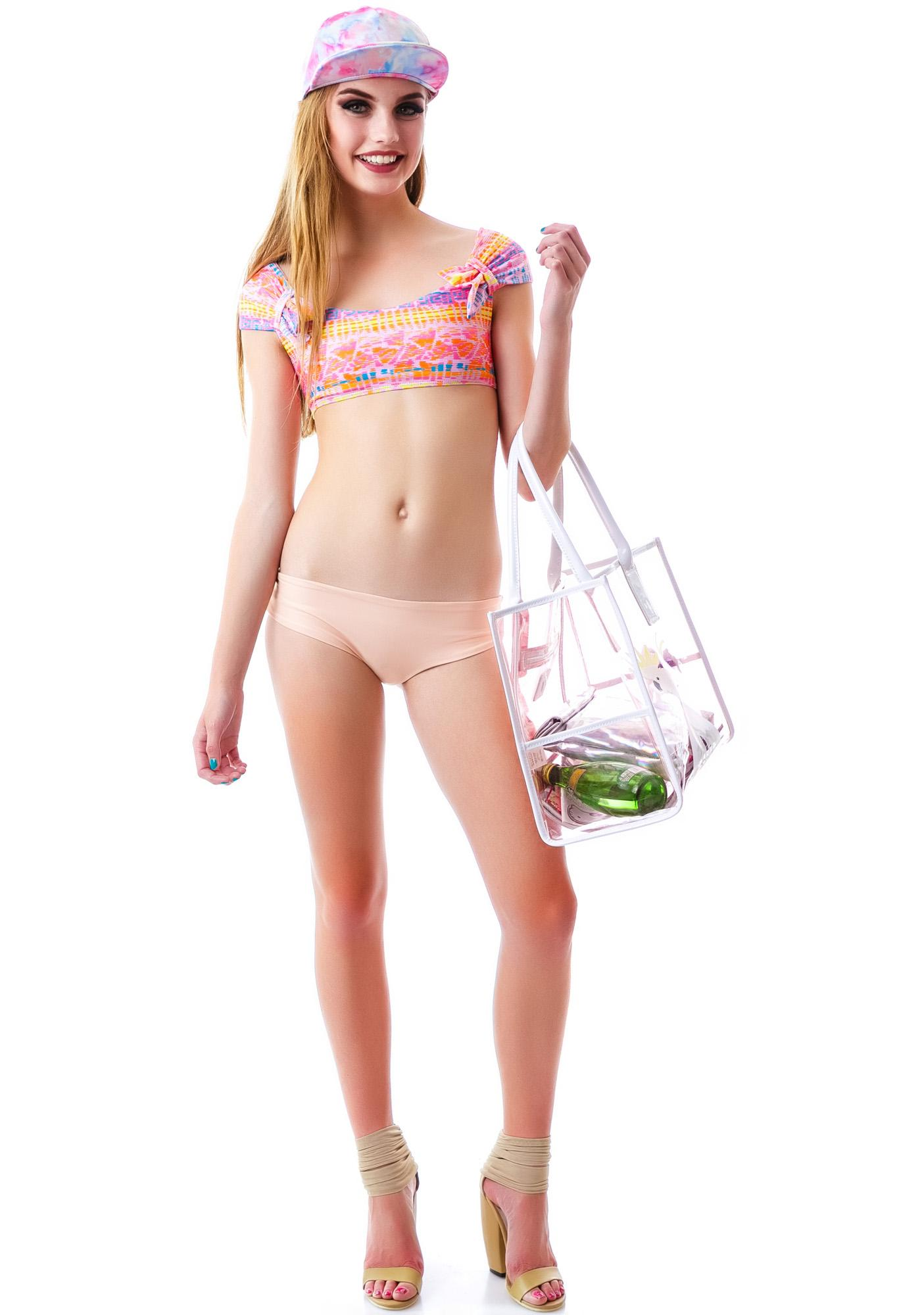 Lolli Swim Merry Go Round Crop Swim Top