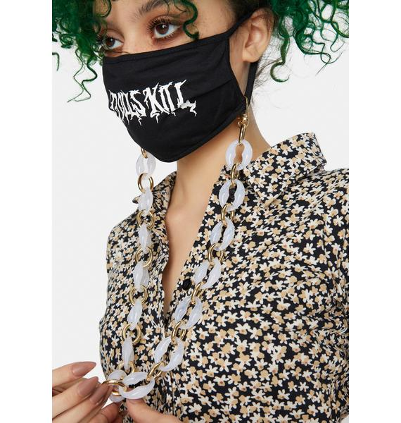Jules Kae Acrylic Cloudy Face Mask Holder Chain