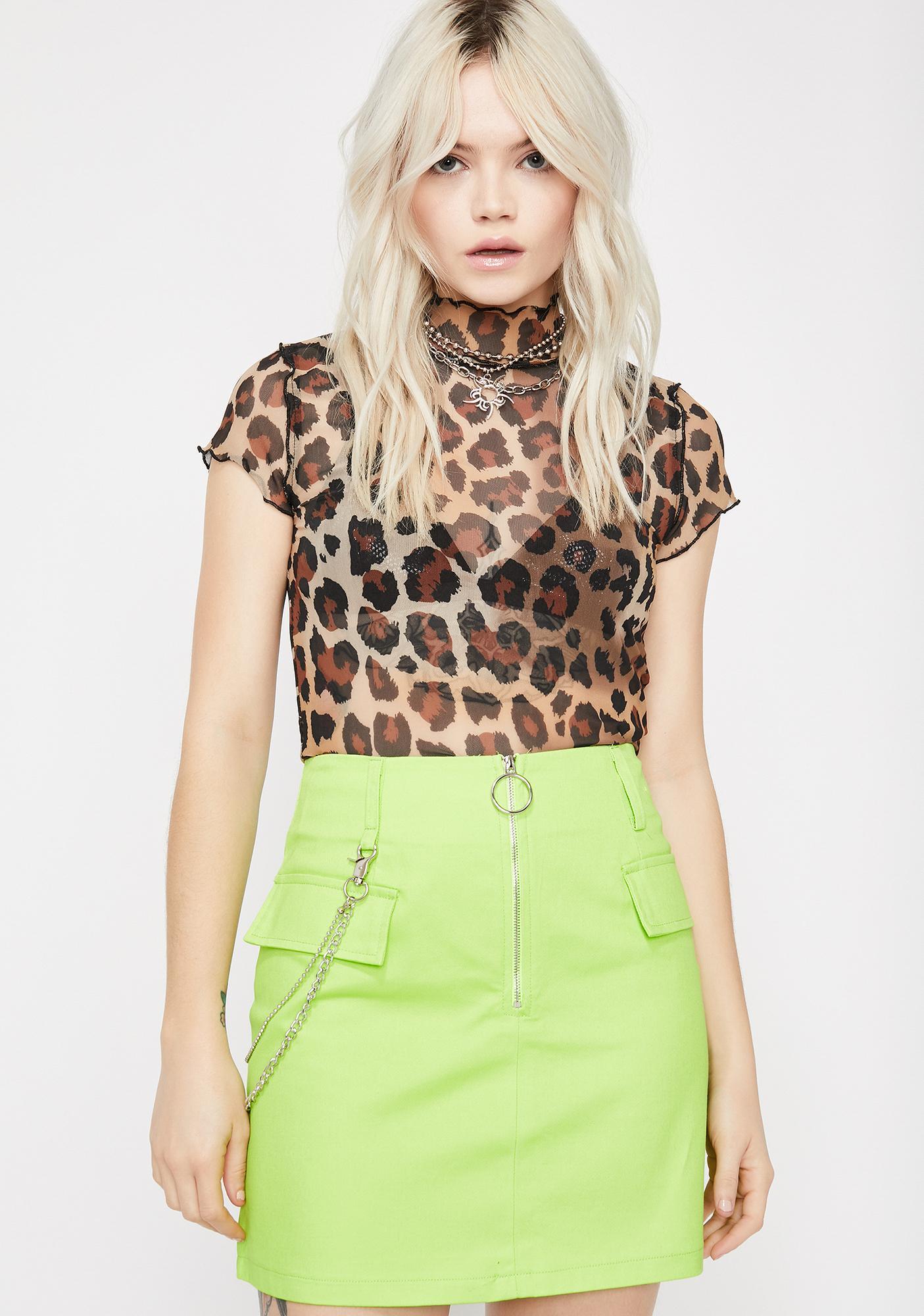 Lime Trust Fund Mini Skirt