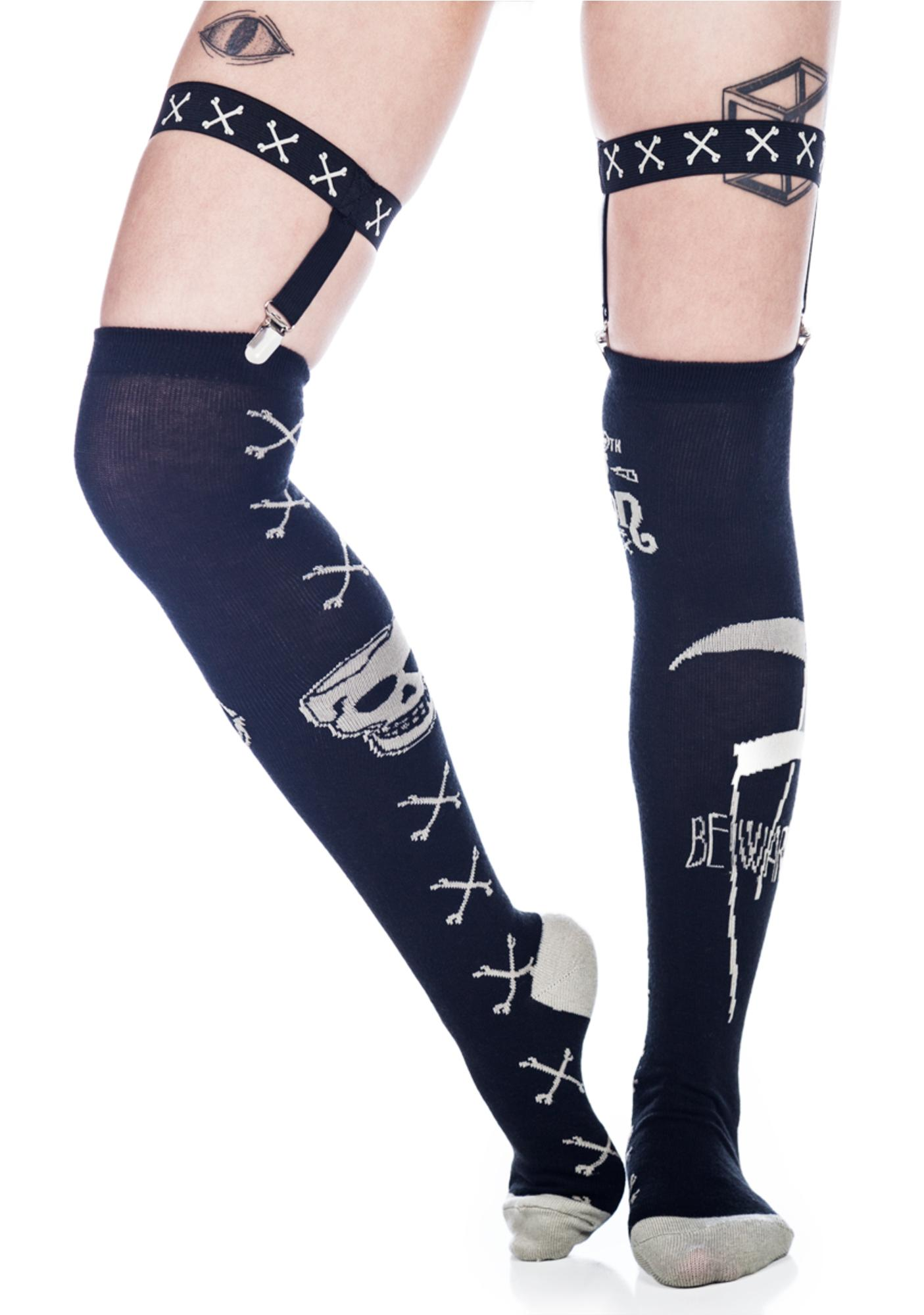 Too Fast Poison Garter Socks