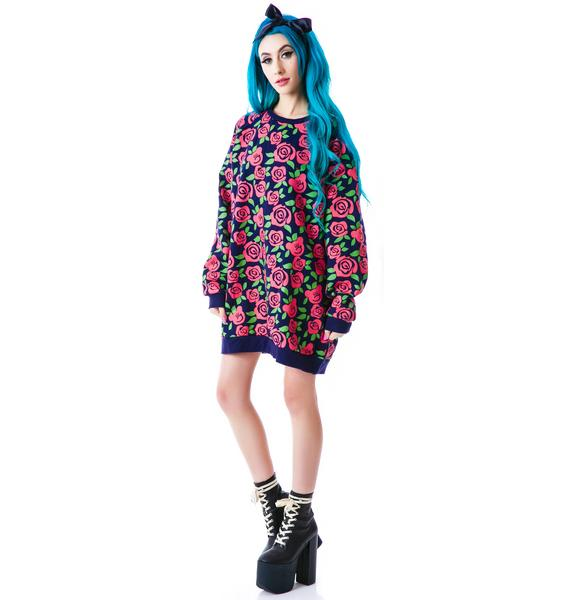 Lazy Oaf Dead Head Oversize Sweatshirt