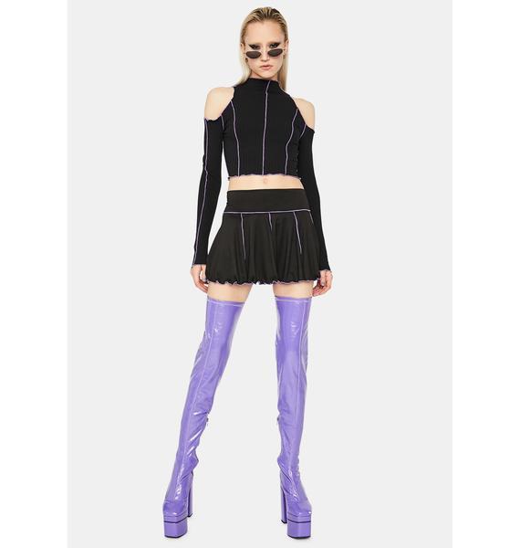 Lilac Stuck With U Pleated Mini Skirt