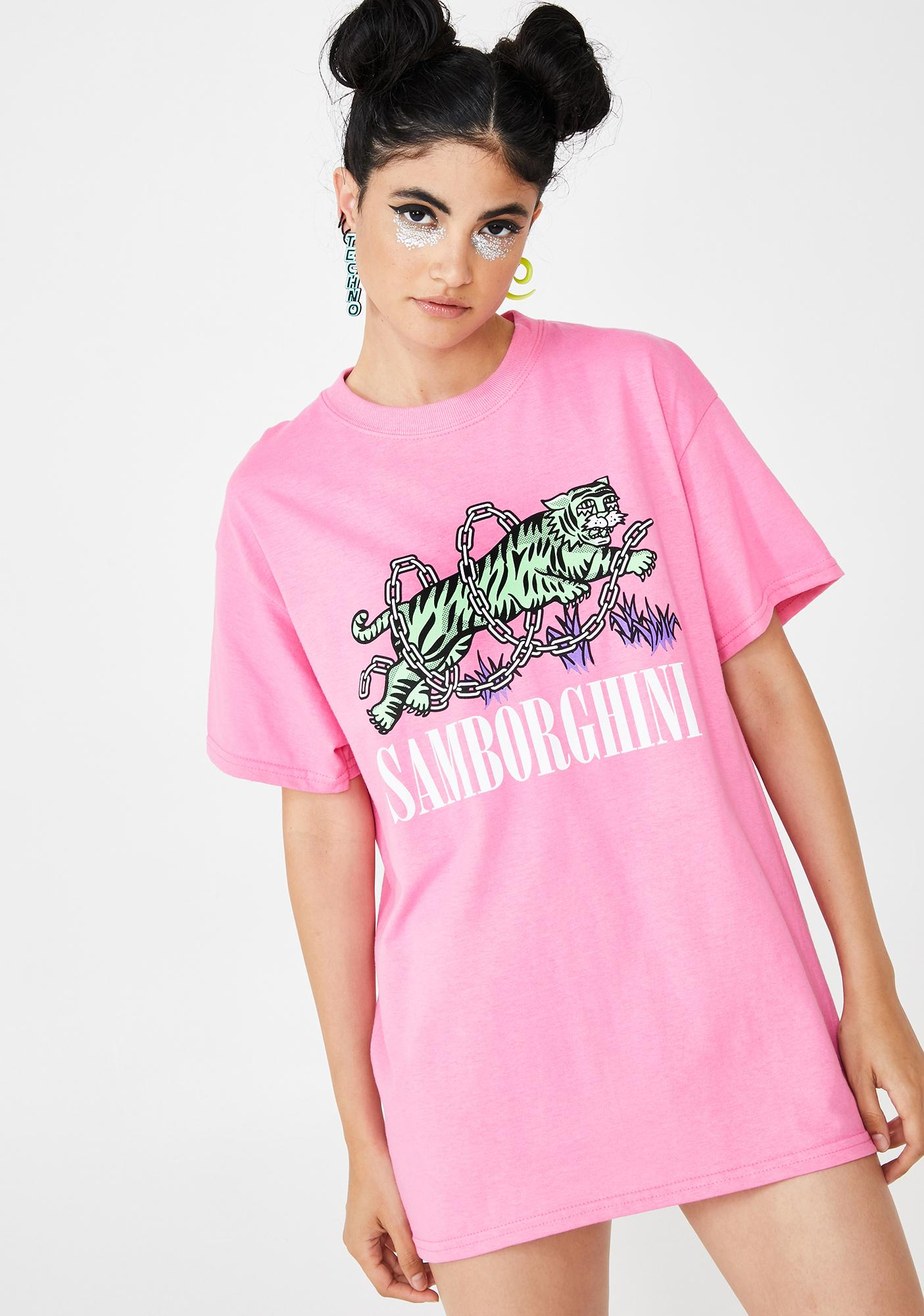 Samborghini Tiger Chains Graphic Tee