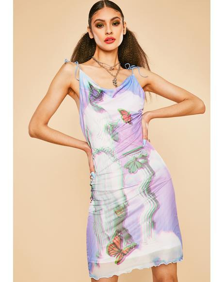 Virtual Heaven Mesh Midi Dress