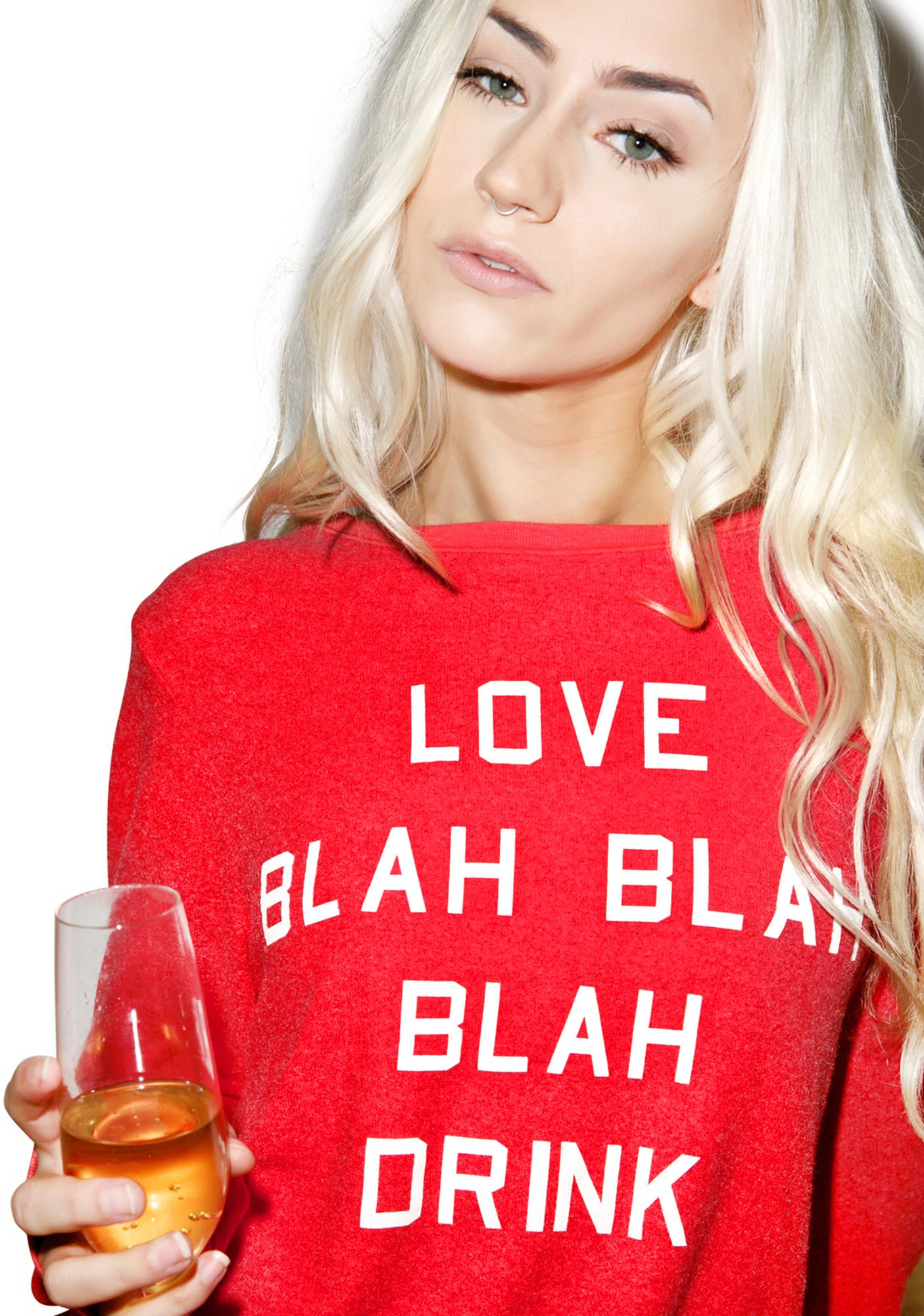 Wildfox Couture Blah Blah Blah Baggy Beach Jumper