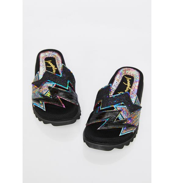 Irregular Choice Thunder Bolt Platform Slides
