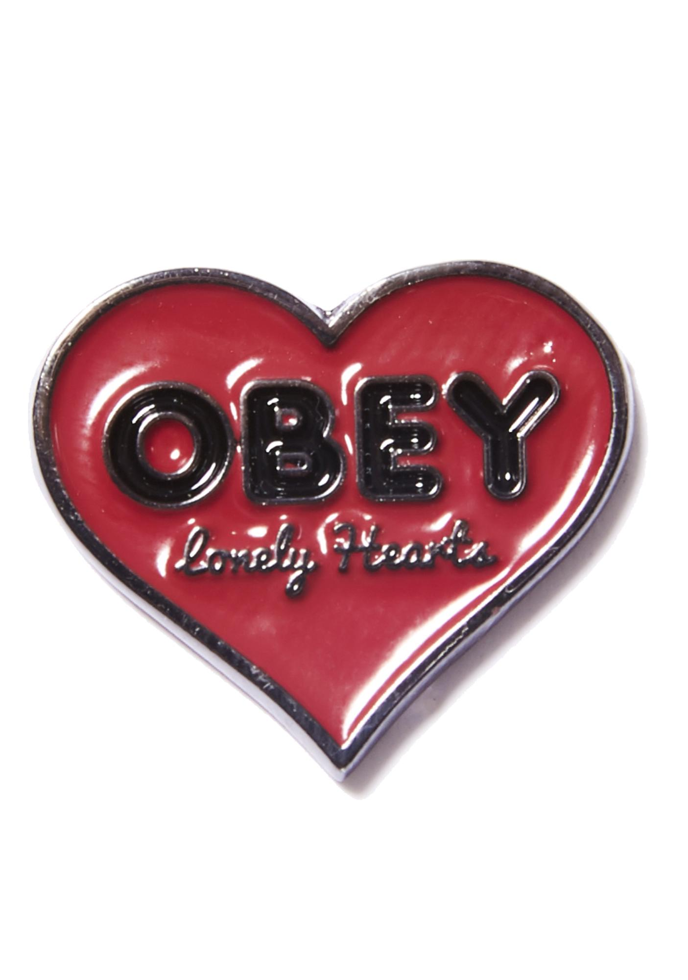 Obey Lonely Hearts Pin