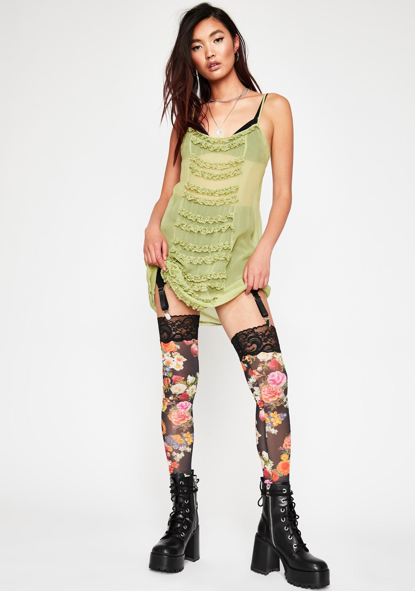Current Mood Blooming Commotion Garter Leggings