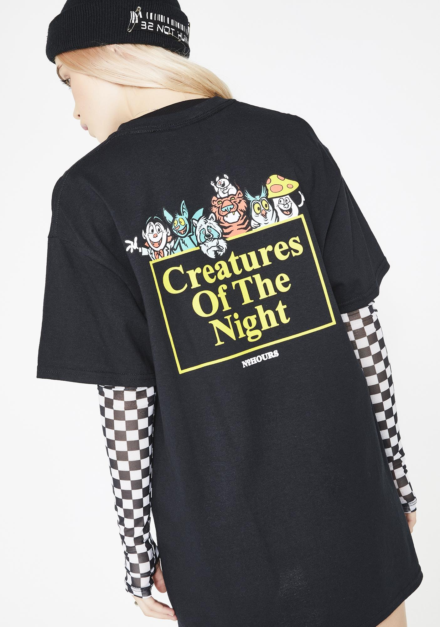 No Hours Creatures Tee