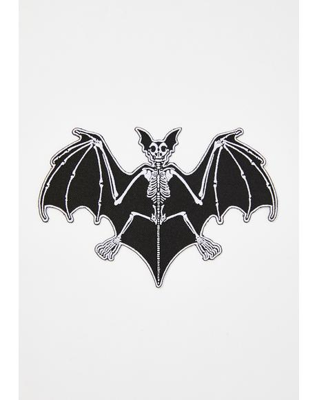 Skelli Bones Bat Patch