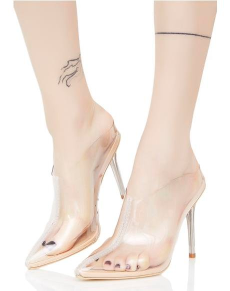 Glass Slipper Clear Heels