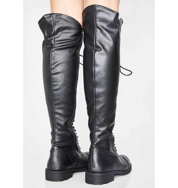 Playing Trix Knee High Boots