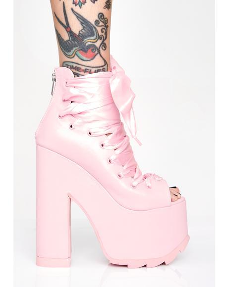 Pink Ballet Bae Platforms