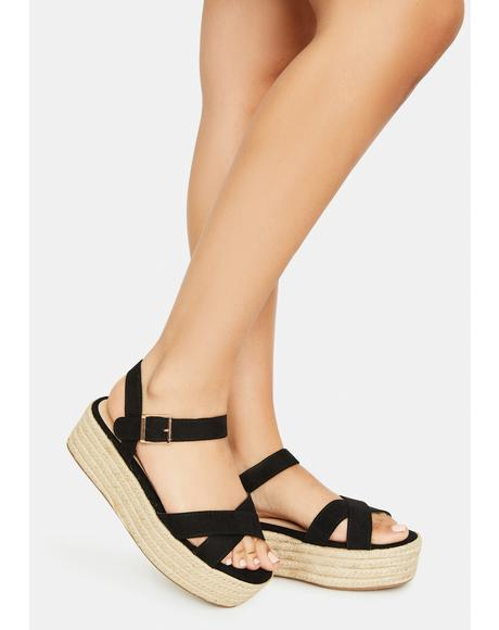 Night So It Goes Strappy Espadrilles