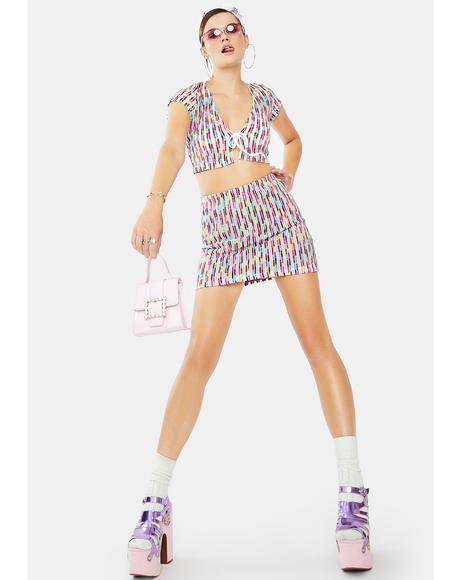Socialite Celebrity Skirt Set