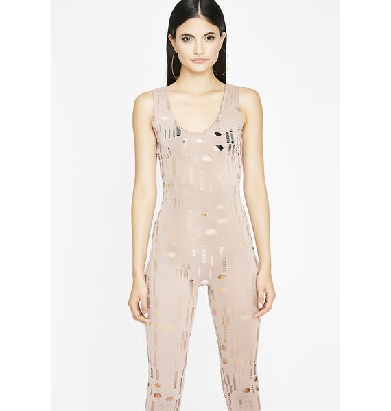 Perfectly Imperfect Distressed Catsuit
