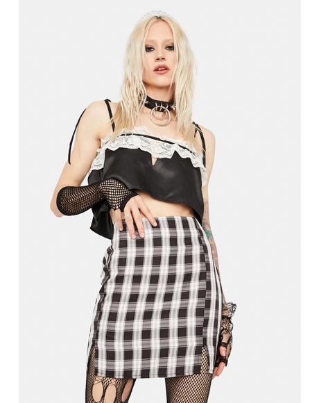 Coal Playful In Plaid Mini Skirt
