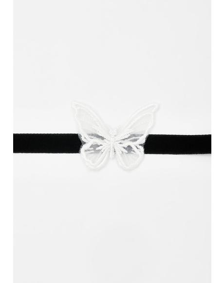 Fluttering Heartz Butterfly Choker