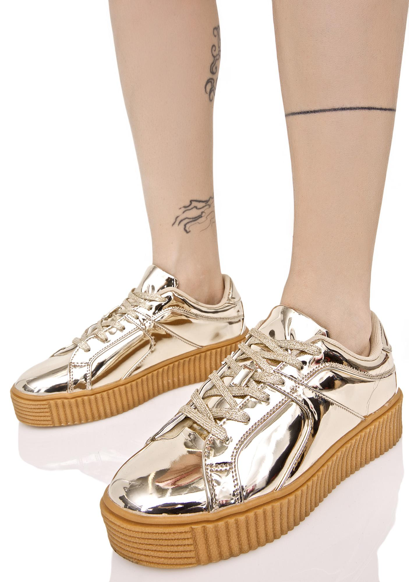 Android Metallic Creeper Sneakers