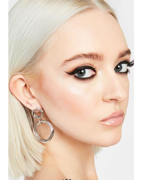 Infinite Motion Hoop Earrings