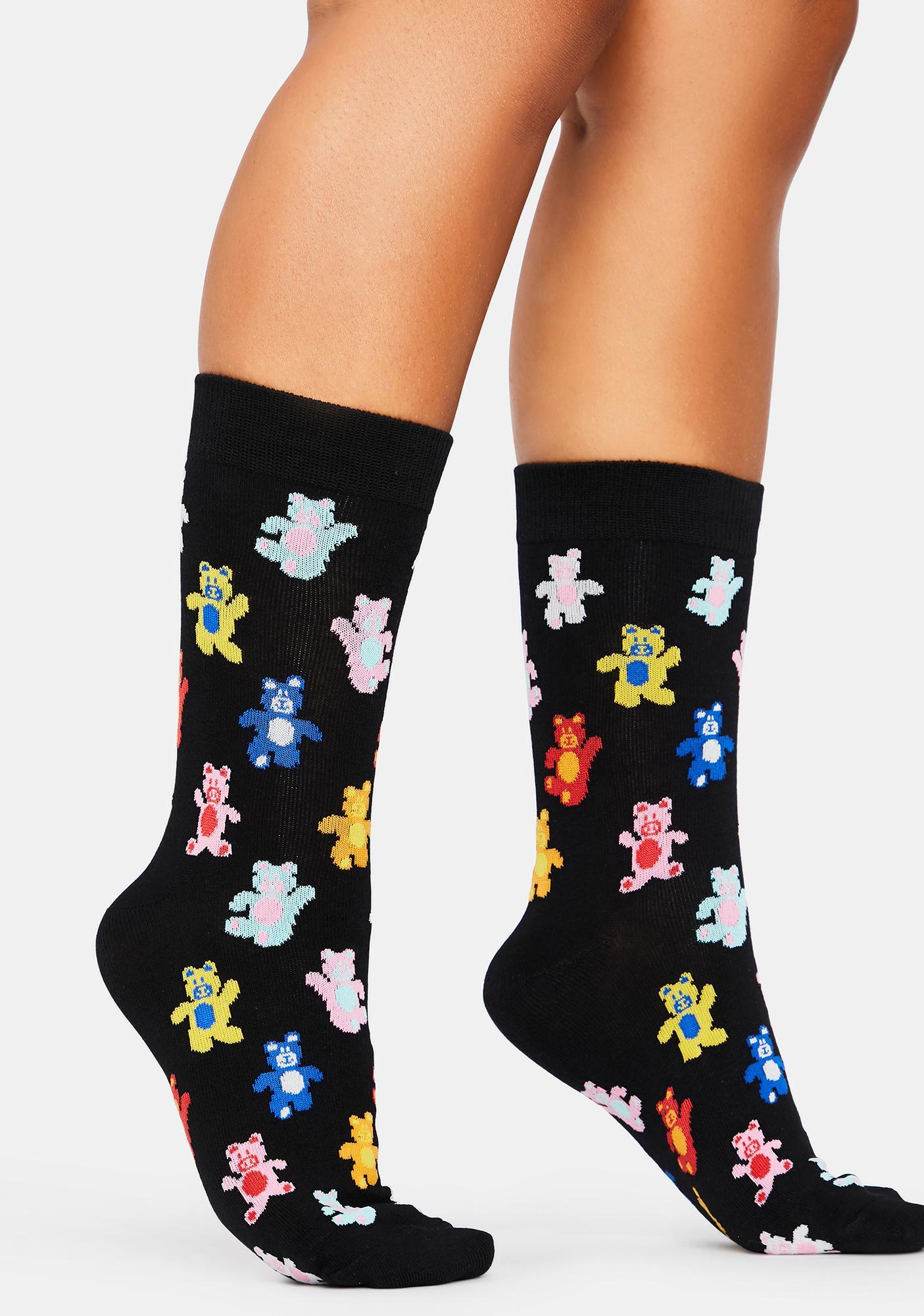 Beary Happy Crew Socks