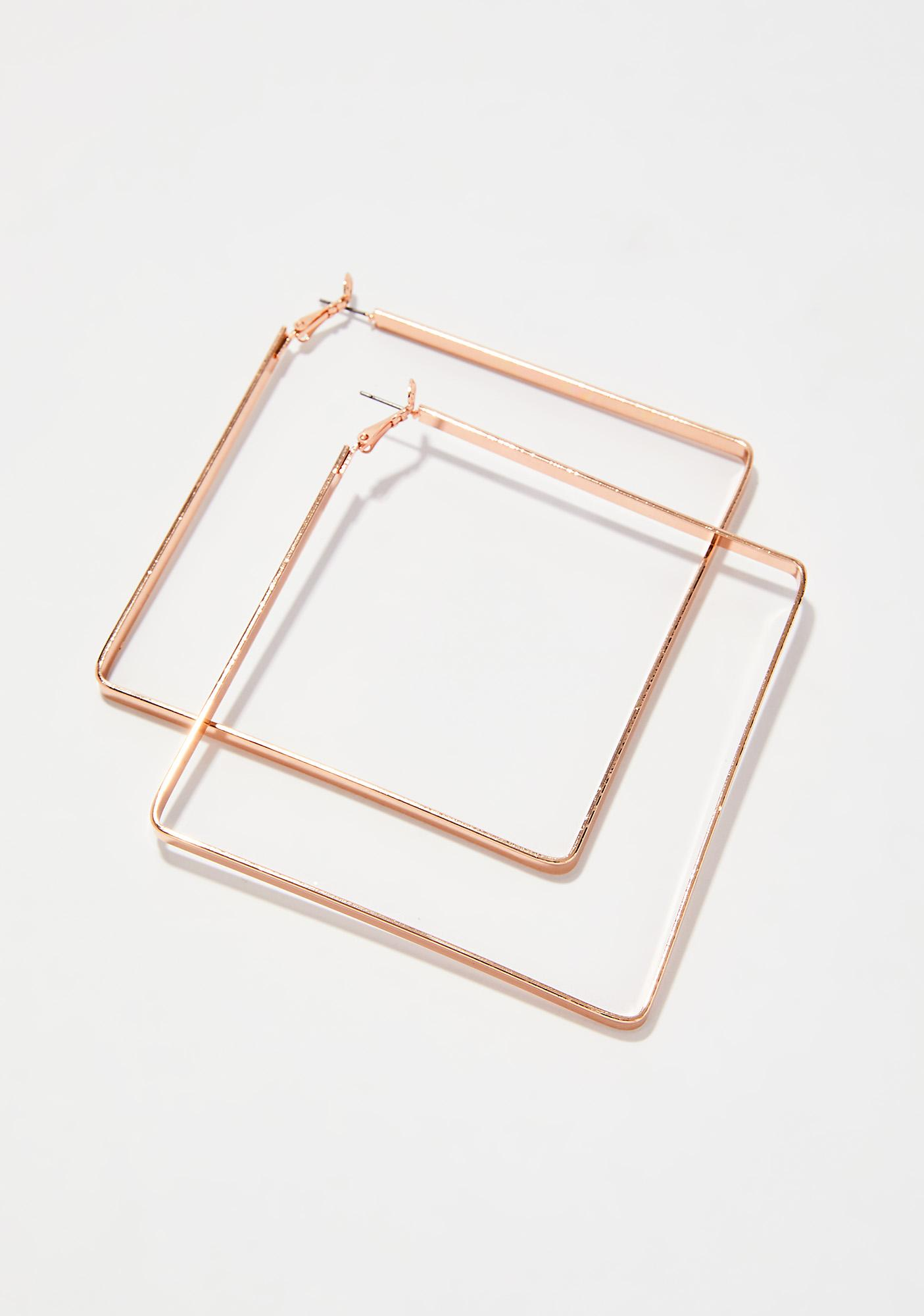 What's Your Angle Hoop Earrings