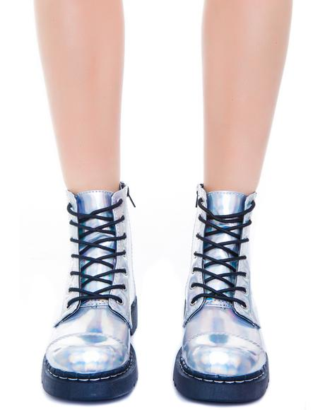 Iridescent 7 Eye Boot