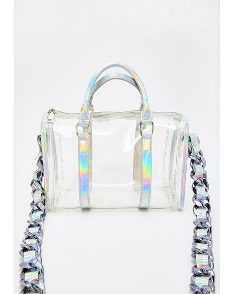 Chic Dimension Holographic Handbag