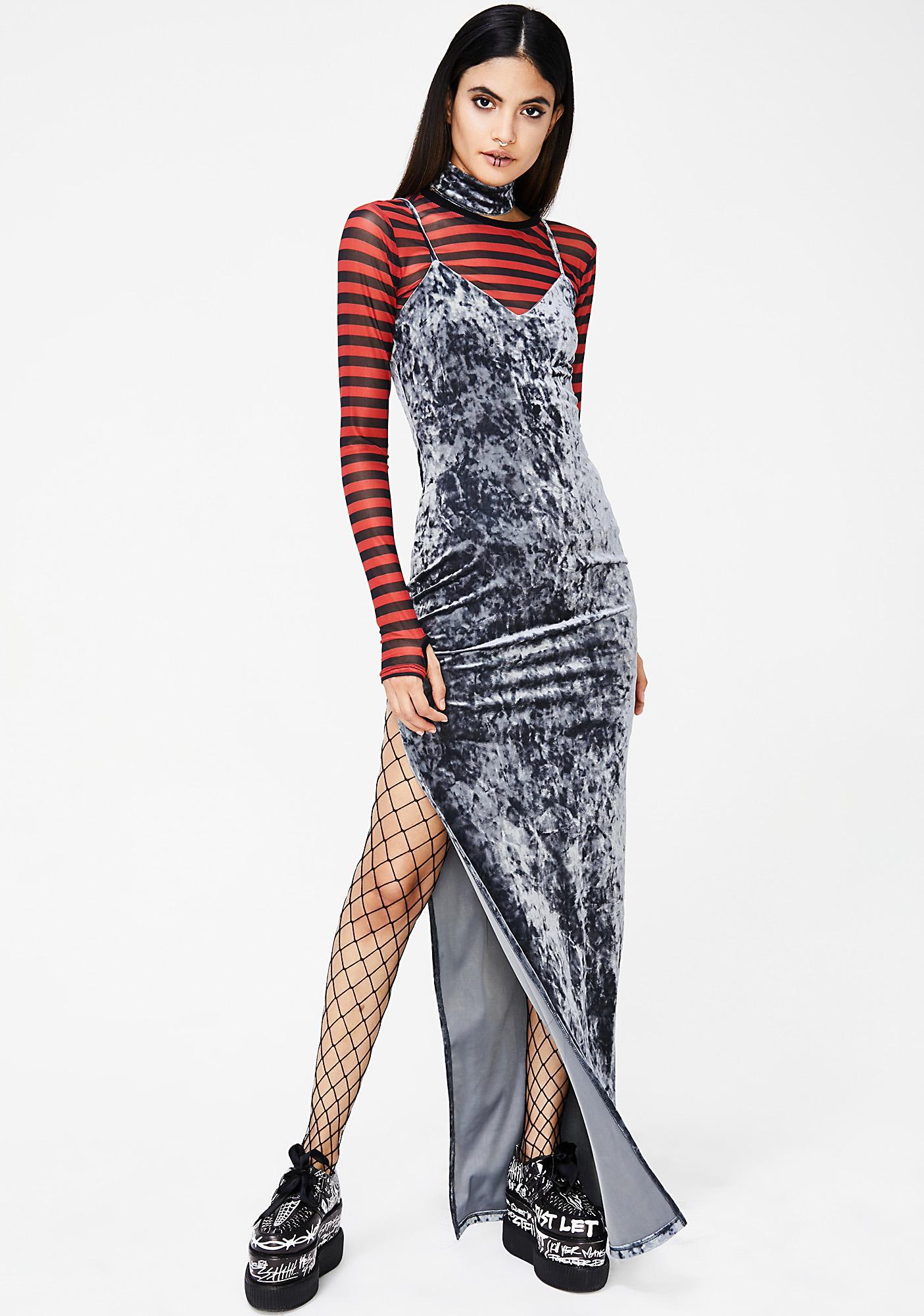 Believer Velour Maxi Dress
