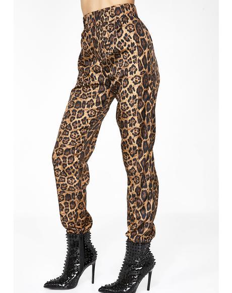 Wild Roaring Leopard Joggers