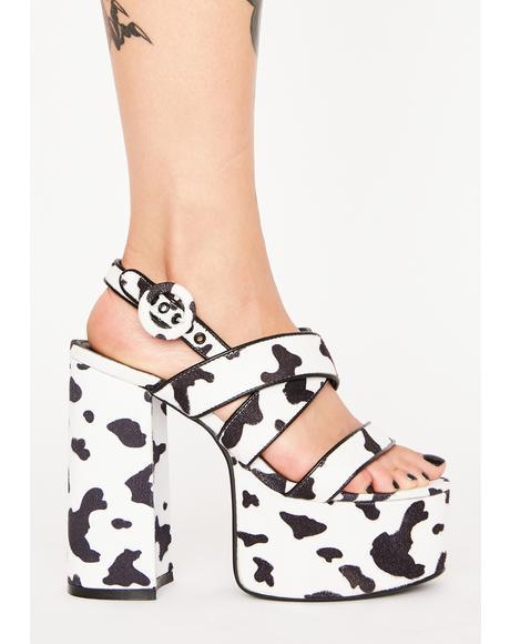 Udderly Chic Chunky Heels