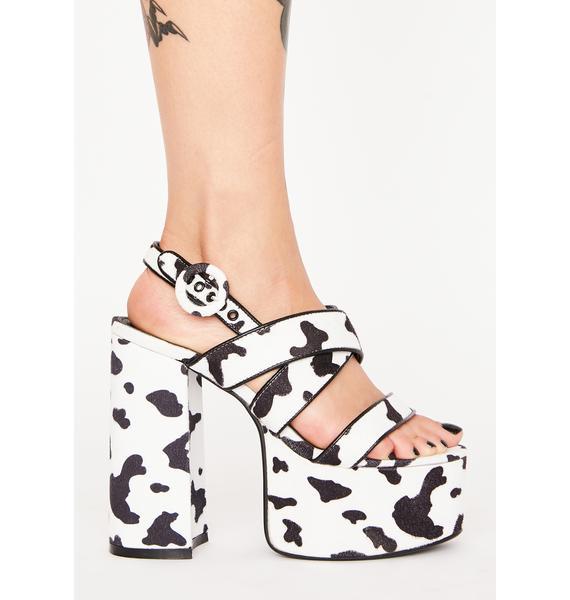 Lamoda Udderly Chic Chunky Heels