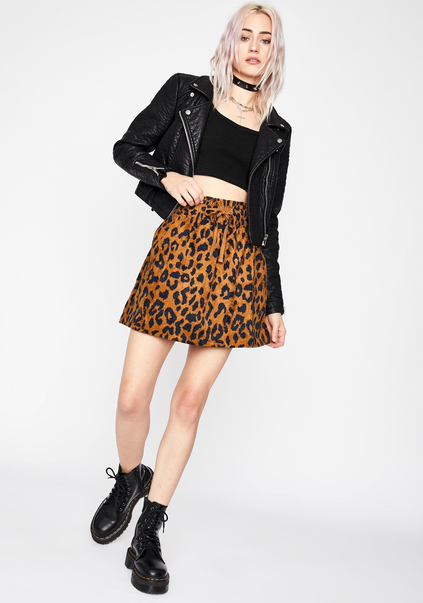 Safari Showdown Mini Skirt