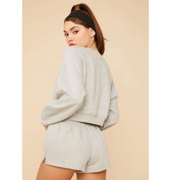 Slate Calling Crazy Elastic Waist Shorts