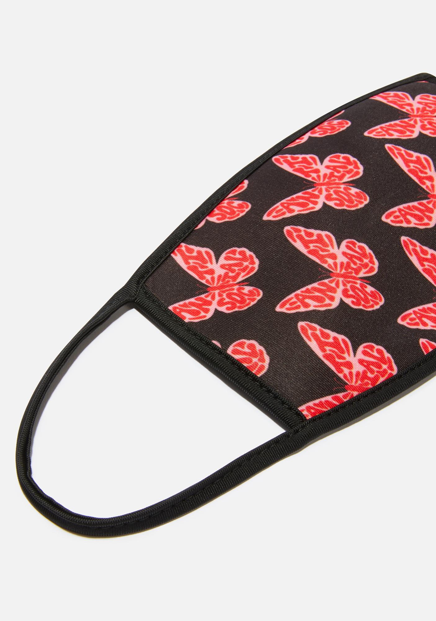 Fly Away Butterfly Face Mask