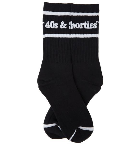 40s & Shorties Text Logo Pocket Socks