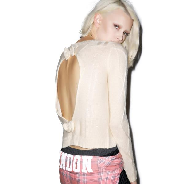 Never Bow Down Cut Out Sweater