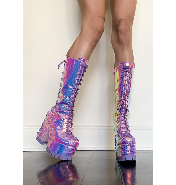 Sugar Thrillz Lucid Daydream Lace Up Boots