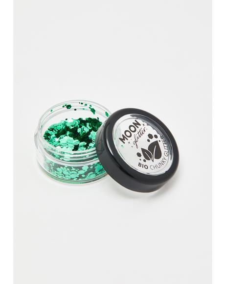 Emerald Bio Chunky Glitter