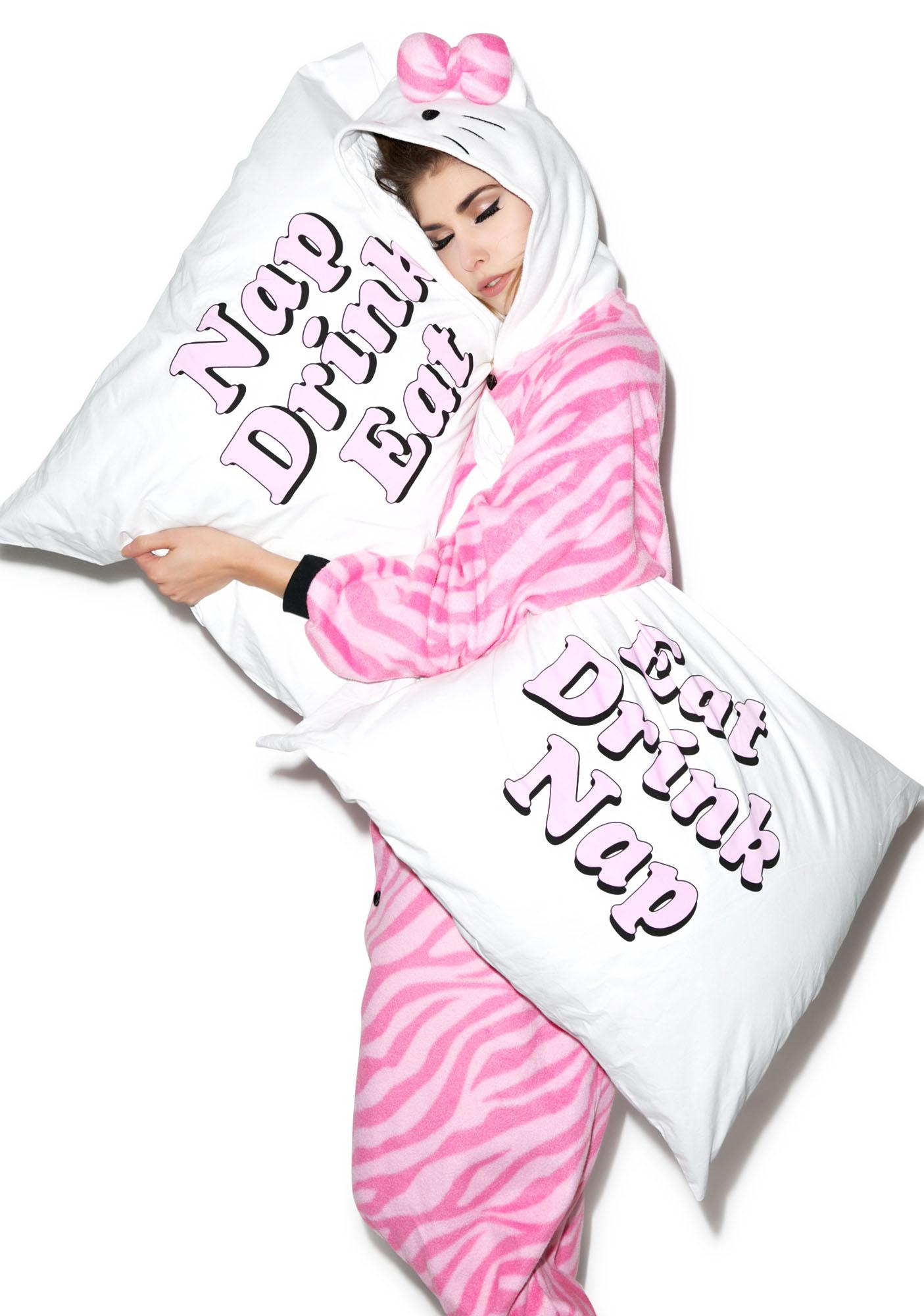 Jac Vanek Eat Drink Nap Pillowcase Set