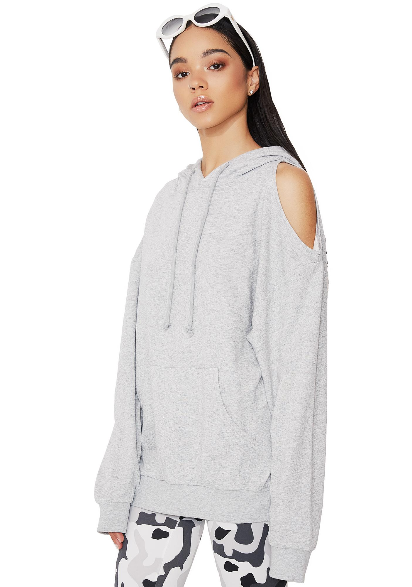 Don't Fuss Cut-Out Hoodie