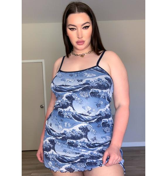 Current Mood She Moves Like Water Cami Dress